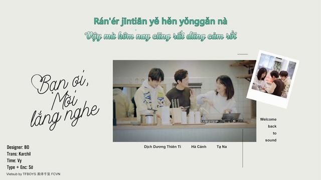 Xem video nhạc Bạn Ơi, Hãy Lắng Nghe / 朋友请听好 (Bạn Ơi Hãy Lắng Nghe Ost) (Vietsub, Kara) online miễn phí