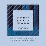 Tải nhạc hay Don't Say A Word (Acoustic Version) miễn phí